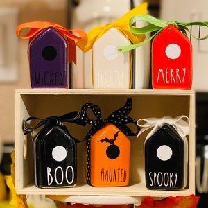 Miniature Rae Dunn inspired birdhouse